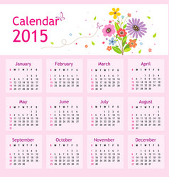 Happy new year calendar 2015 vector