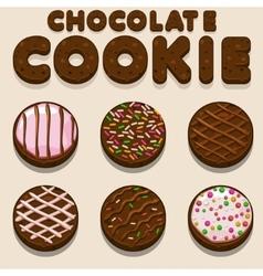 Cartoon Chocolate cookie biskvit food vector image vector image