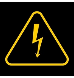 danger sign with frame high voltage yellow vector image