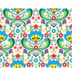 norwegian folk art seamless pattern vector image