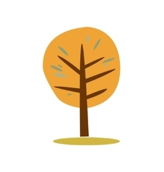 Simple of autumn tree vector image