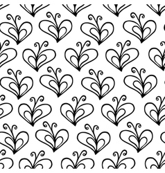 Butterfly heart seamless pattern vector