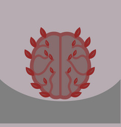 eco brain with leafs on ecology style with bashers vector image