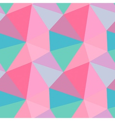 Seamless polygon triangle pattern vector image