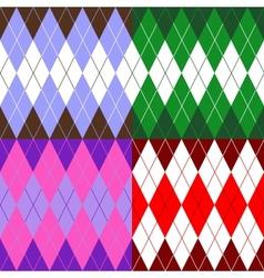 set of patterns wiyh rhombuses vector image