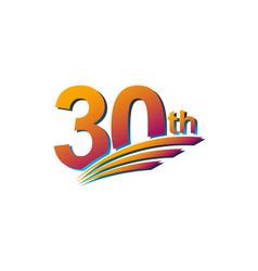 30 th anniversary elegant celebration template vector