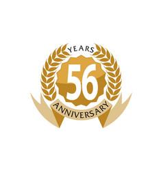 56 years ribbon anniversary vector