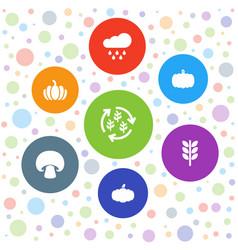 7 autumn icons vector