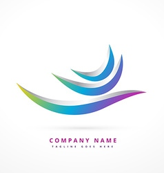abstract logo shape design vector image