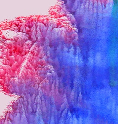 Abstract watercolor background Pink and blue vector