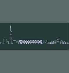 Ahmedabad single line skyline profile vector