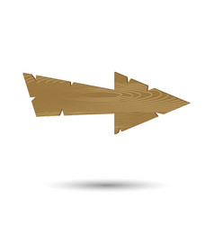 arrow wooden isolated vector image