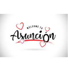 asuncin welcome to word text with handwritten vector image