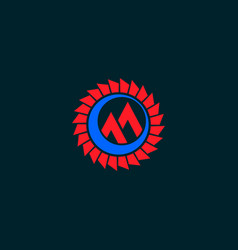 aviation logo design template airplane engine logo vector image