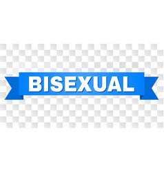 Blue tape with bisexual title vector