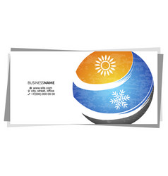 Business card concept for air conditioning vector