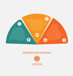 business chart modern infographic template from vector image