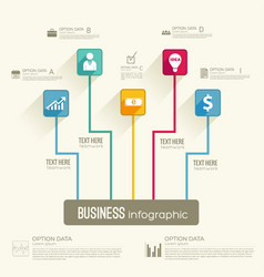 Business infographic workflow concept vector