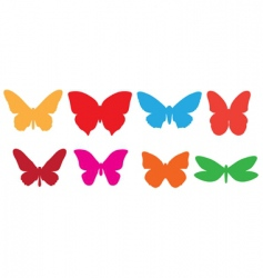 butterfly silhouettes vector image vector image