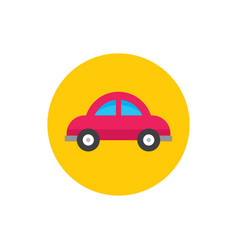 car - concept icon in flat graphic design style vector image