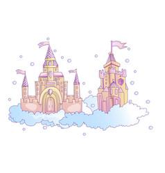 cartoon pink princess magic vector image