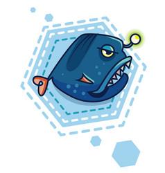 cartoon sea devil vector image