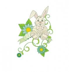 Chamomiles bunny vector