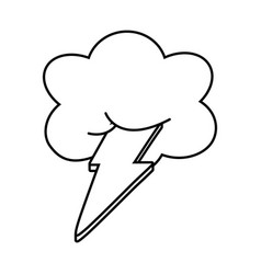 Cloud and lighting black and white vector