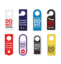 collection colorful door hanger with hole vector image