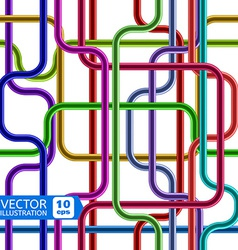 Colorful Shiny Tubes Seamless Pattern vector image