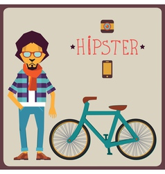 Concept of hipster vector