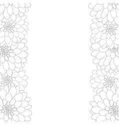 dahlia outline border style 2 vector image