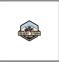 desert storm off road logo vector image