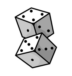 dice small cubes for game with different number vector image