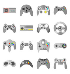 different game controllers vector image