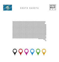 Dots pattern map south dakota stylized vector