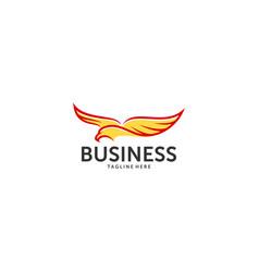 eagle head logo template hawk mascot graphic bold vector image