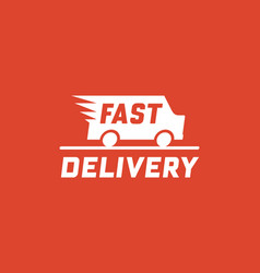 fast delivery concept with truck van vector image