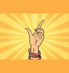 Female hand hold gesture vector