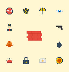 flat icons lock padlock road sign and other vector image