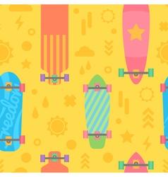 Flat longboards seamless pattern vector image
