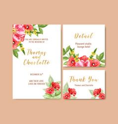 Flower garden wedding card design with anemone vector