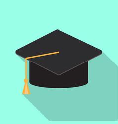 graduation cap or mortar board icon vector image
