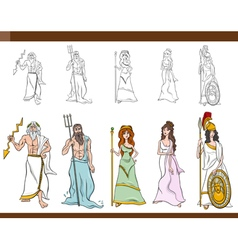 greek gods cartoon vector image