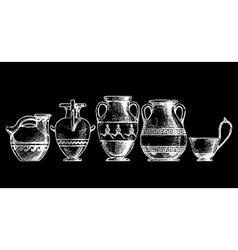 Greek vessel shapes vector