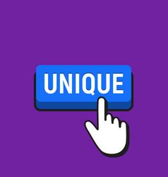hand mouse cursor clicks the unique button vector image