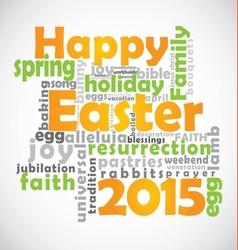 Happy Easter 2015 vector