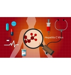 Hcv hepatitis c virus liver disease health medical vector