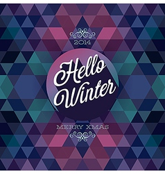 hipster hello winter dark vector image