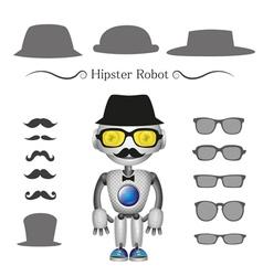 Hipster robot vector